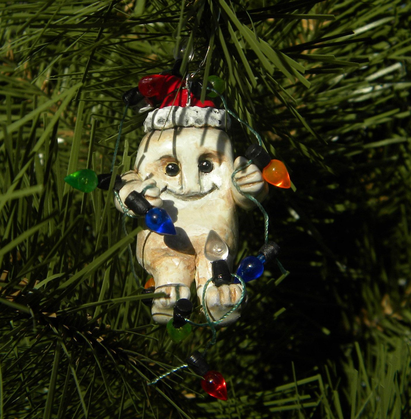 Adipose Christmas Ornament Decked In Lights $2000, Via Etsy