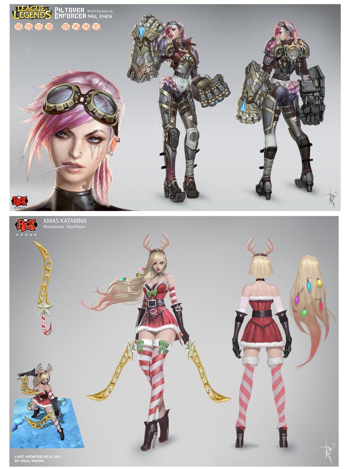 League Of Legends Character Design Contest : Personagens do game league of legends criado pelo artista