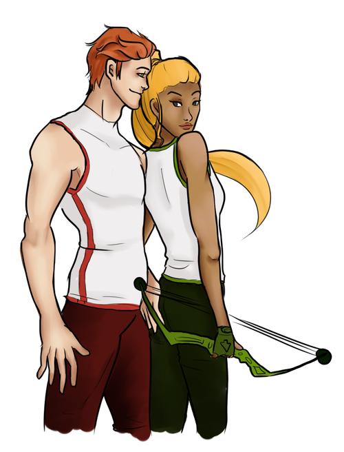 Kid flash (wally west) and Artemis (Artemis crock ...