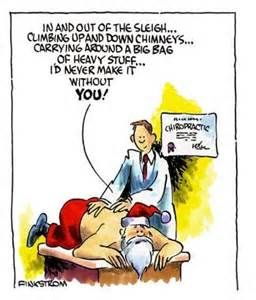 Even Santa needs to get adjusted with all the lifting he does!