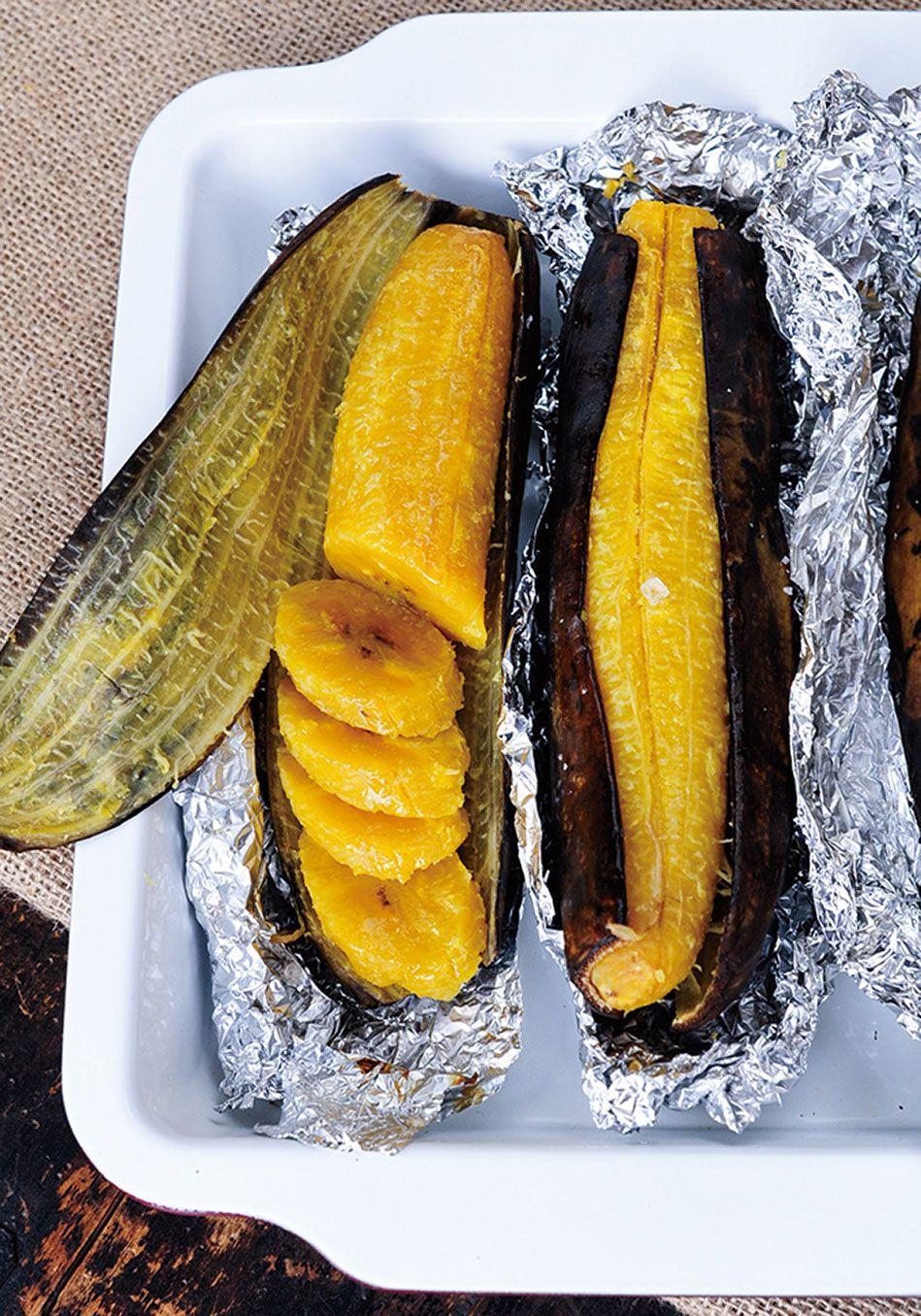 Baked Plantains Recipe   Plantain recipes, Haitian food ...