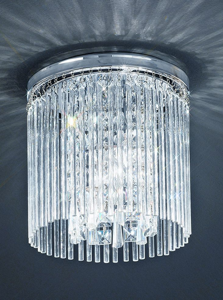 Cf5726 semi flush bathroom fitting small chrome and crystal chrome franklite charisma chrome crystal flush small ceiling fitting flush ceiling lights flush ceiling lights crystal and glass aloadofball Images