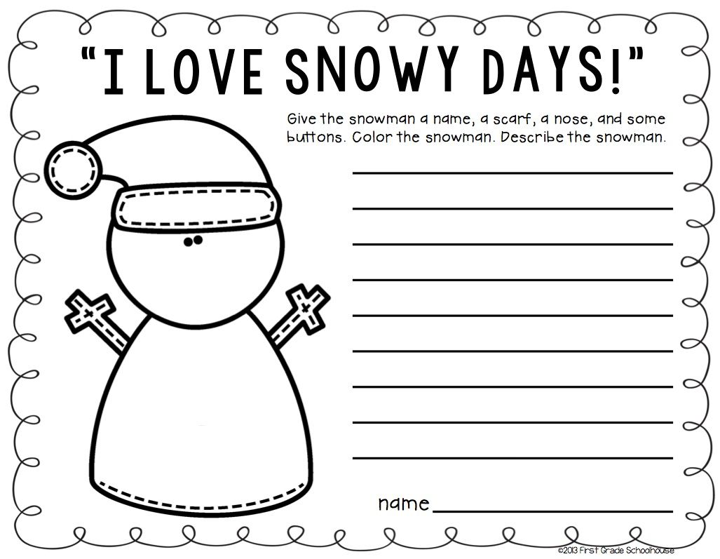 Winter Writing Second Grade