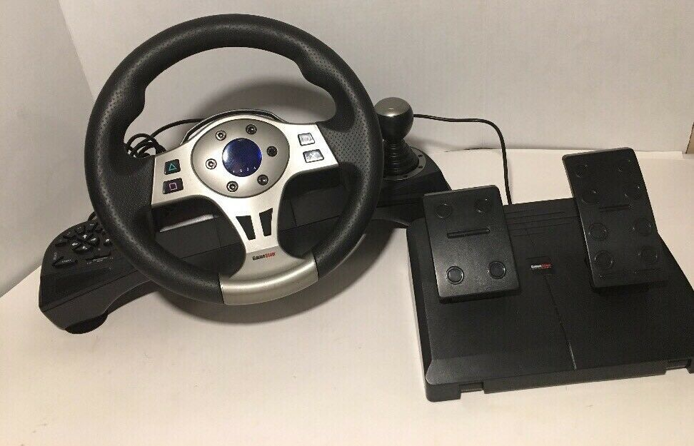 Gamestop PS3 Steering Wheel With Foot Pedals Controller BB