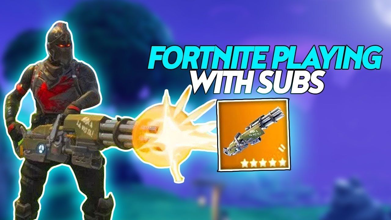 New MiniGun GameplayNew Skins Fortnite Battle Royale