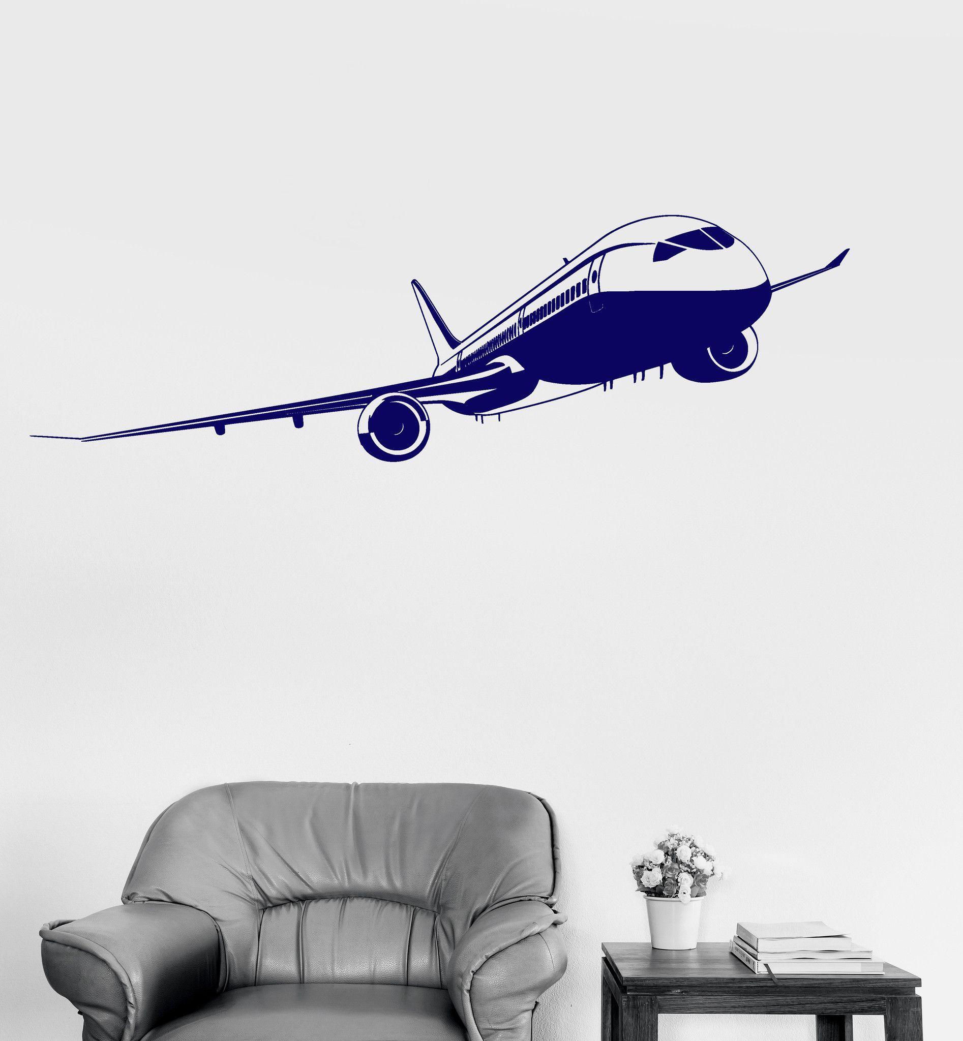 Vinyl Wall Decal Aviation Aircraft Airport Kids Room Art Stickers Ig3206 Aviationfurniture Vinyl Wall Decals Sticker Art Kids Room Art [ 2048 x 1894 Pixel ]