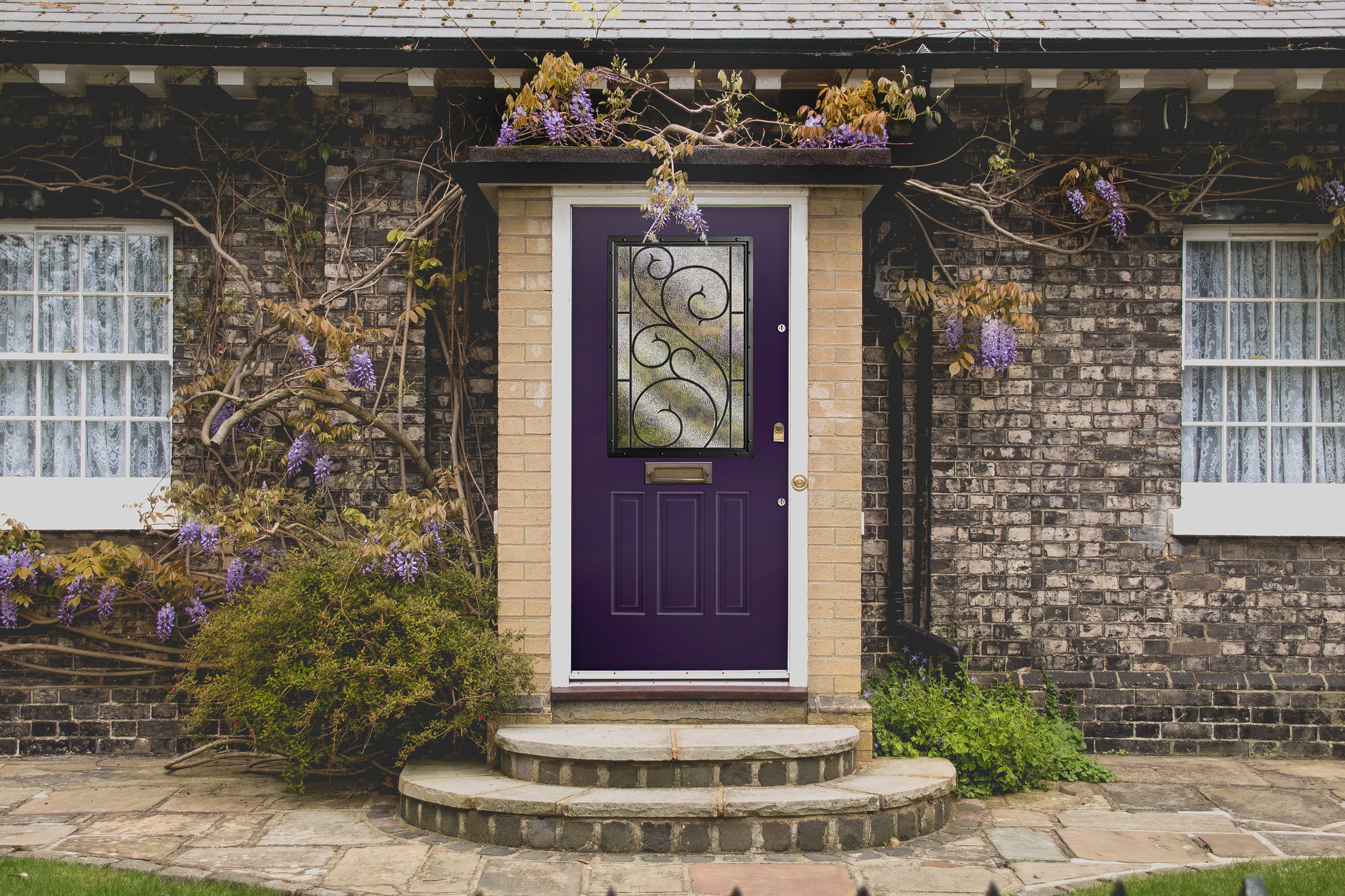 Traditional Style Home Front Door Envy With A Plum Color Home Pictures Traditional Style Homes Planning Permission