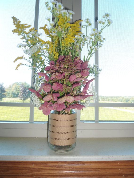 Hand made flower vase. by OhSewCountryCrafts on Etsy, $25.00