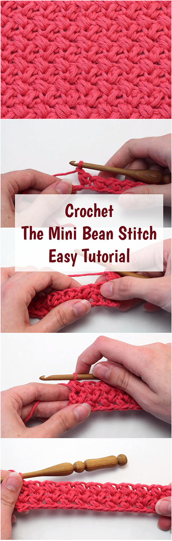 Crochet The Mini Bean Stitch Easy Tutorial Free Video Guide