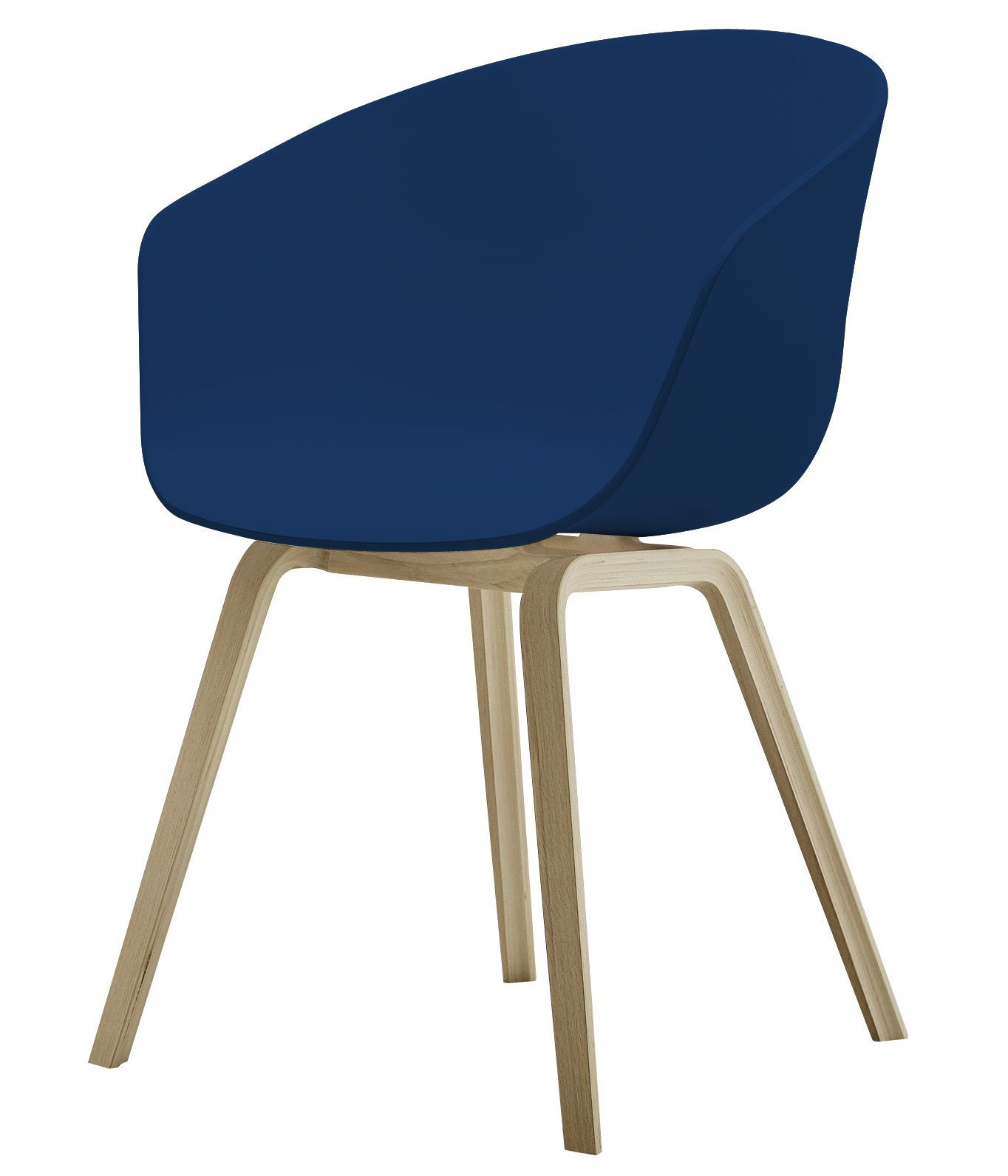 About A Chair Armchair Plastic Shell Wood Legs By Hay
