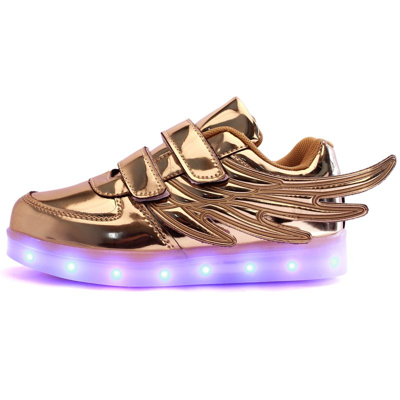 2017 Neue Usb Lade Glowing Turnschuhe Kinder Laufschuhe Led Wings