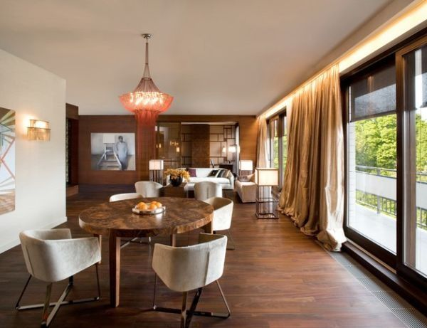 The Terrific Charming Dining Room Round Table Contemporary Parkowa Apartment