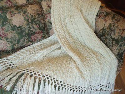 Afghan Patterns Irish Wedding Aran Afghan Knit Pattern Crochet