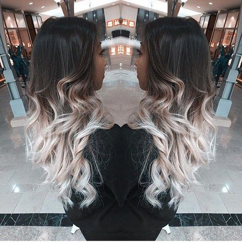 40 Glamorous Ash Blonde And Silver Ombre Hairstyles Long