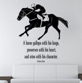 Horse decal-Horse Race Quote-Horse sticker-large 40 x 45 inches ...
