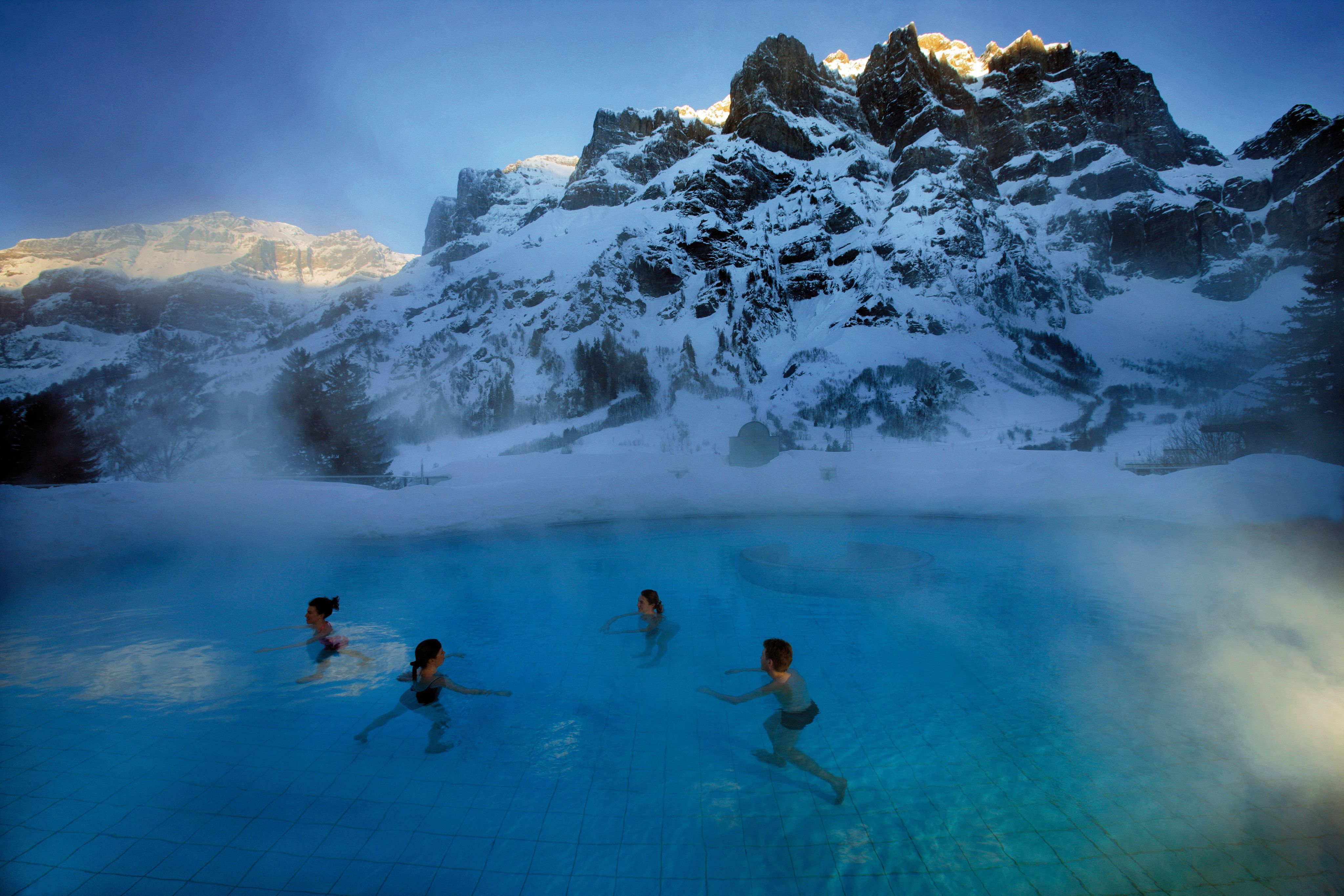 Hot Springs In Switzerland Welcome To Www Visualtshirt Com Shop Your Perfect Traveling Appa Switzerland Tourism Valais Thermal Pool