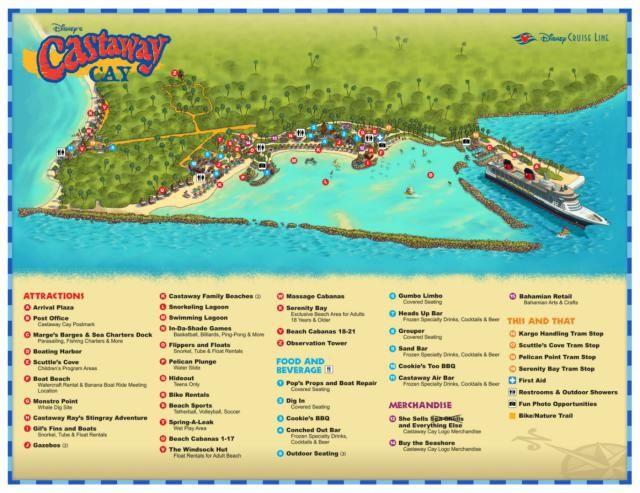 Maps And Information For Castaway Cay Disney S Private Island Disney Island Disney Dream Cruise Disney Cruise Line