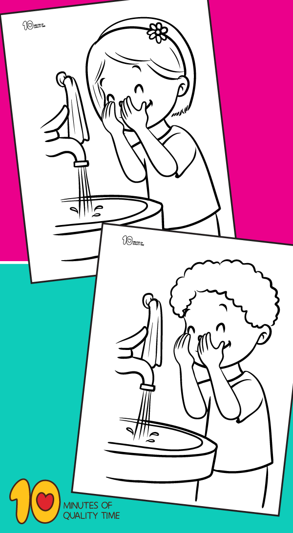 Coloring page showers Personal Care - Free Coloring Pages | 1092x600
