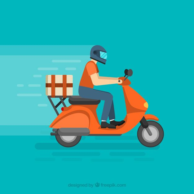 download delivery man with helmet on modern scooter for free in 2020 character graphic vector free business person download delivery man with helmet on