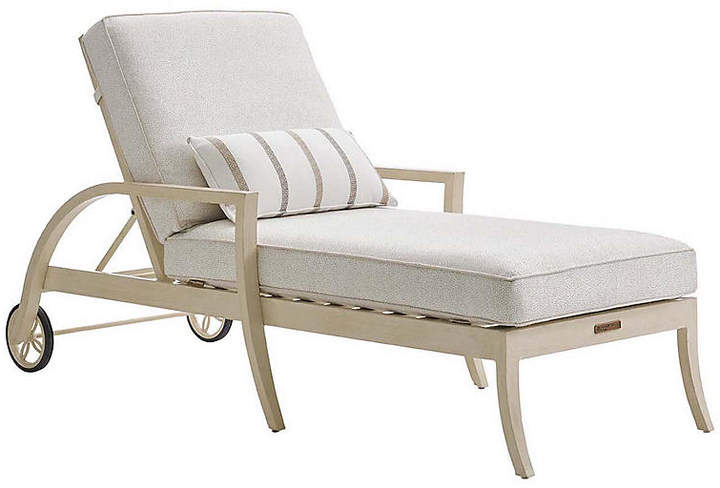 Tommy Bahama Misty Garden Chaise - Ivory Sunbrella Products in