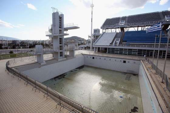 The Diving Center Is Drained Athens Oli Scarff Getty Images Olympic Venues Abandoned Abandoned Cities