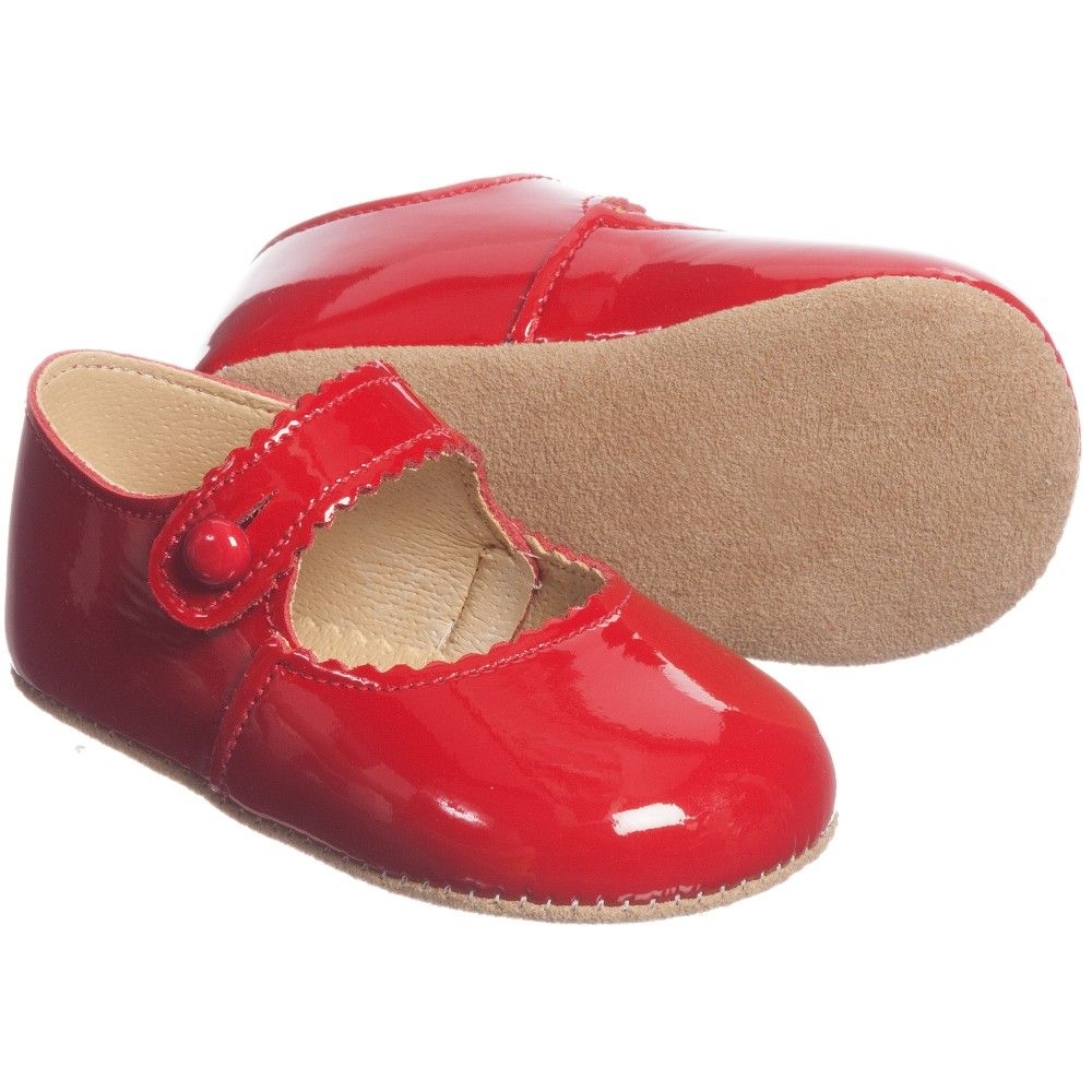 19ebf849c0c9d4 Girls Red Patent Leather  Emma  Pre-Walker Shoes