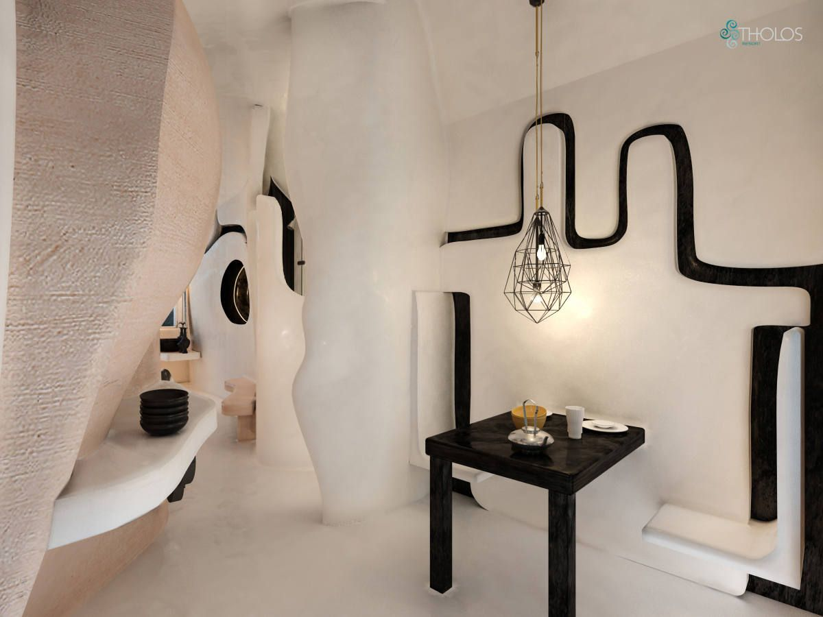 Black and white, the absolute antithesis - A sublime aesthetic outcome at Tholos Resort! More at tholosresort.gr