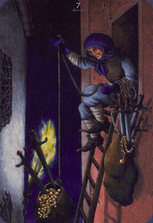 Seven of Swords - Anna K Tarot by Anna Klaffinger | Past