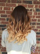 beautiful medium brown to light brown to blonde bayalage / ombré #bayalage #bi # …  – bedroom diy