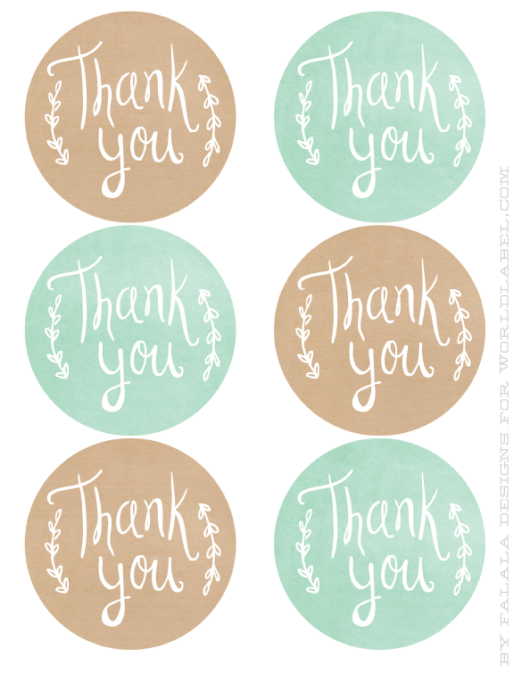 photo relating to Thank You Printable Tag titled Thank Your self printable labels label Printable labels, Thank