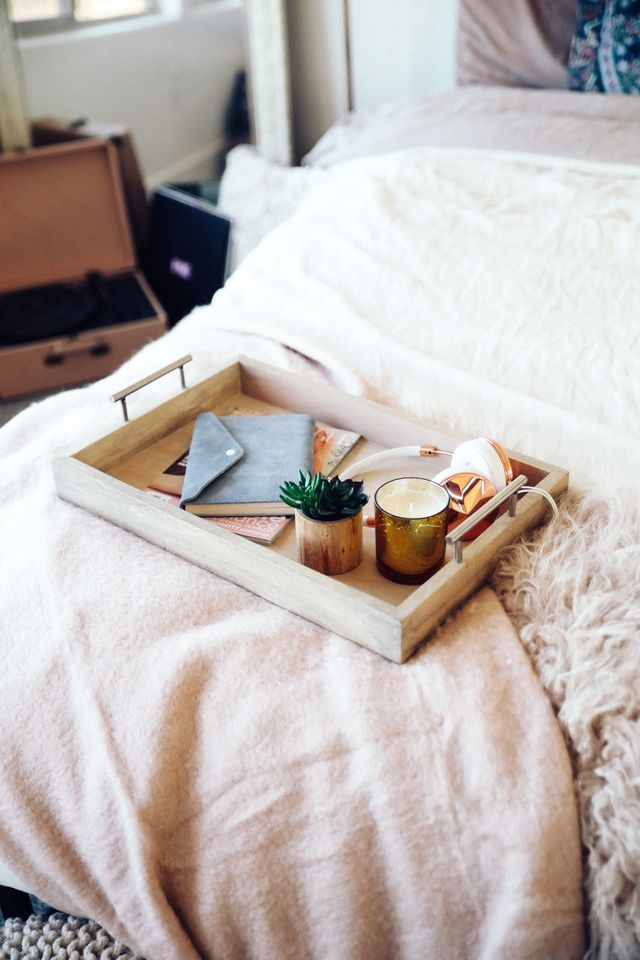 New Room Makeover Aspyn Ovard Romantic Bedroom Decor Trays Decor Bedroom Tray Bedroom