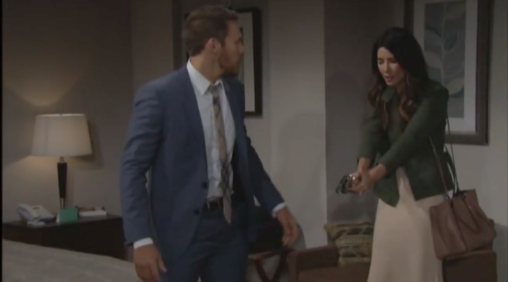 """""""The Bold and the Beautiful"""" spoilers for Monday, July 17, tease that Eric (John McCook) will be in shock over Steffy's (Jacqueline MacInnes Wood) latest move. When she mistakenly assumed Sheila (Kimberlin Brown) was going for a gun, Steffy fired her own weapon. Sheila hit the floor and now Eric wil"""