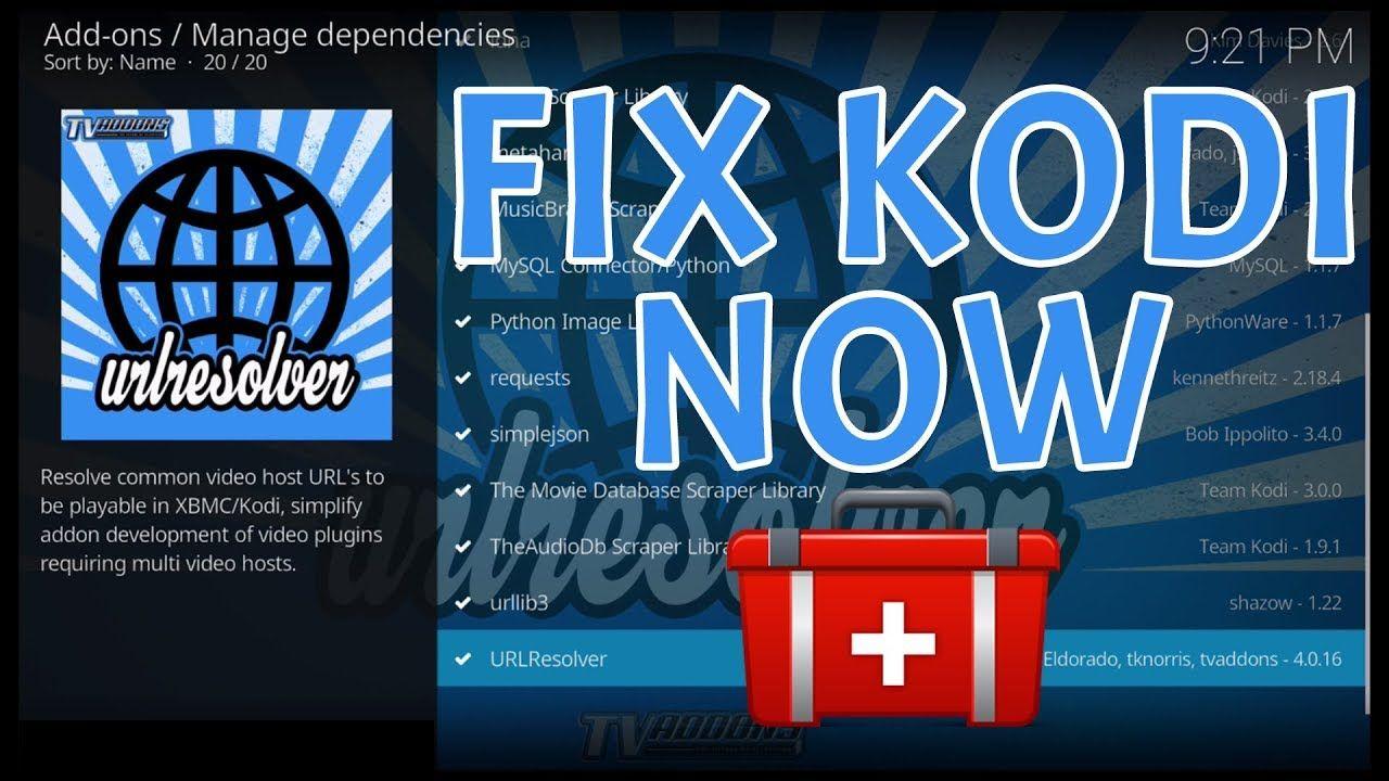 KODI URL RESOLVER FIX 2018 - FIX ADDONS NOT PLAYING MOVIES, TV