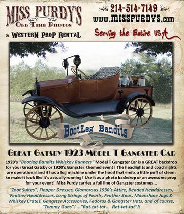 Bootleg Bandits 1920 S Model T Gangster Car Backdrop Tulsa Ok