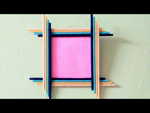 How To Make A Woollen Photo Frame Also Using Newspaper Youtube