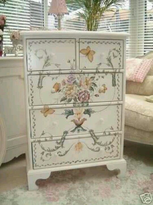 Decoupage Dresser Decoupage Furniture Redo Furniture Recycled Furniture