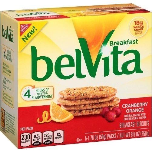 Photo of Biscuits déjeuner à l'orange et aux canneberges Belvita