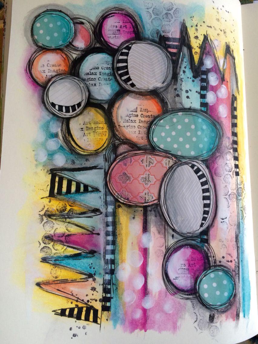 Watercolour mixed media art journal page #art #artjournalling #artjournalpage #mixed #media