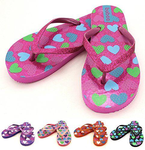 f3bf659d07d perfect Bobee Girl s Summer Beach Flip Flop Comfortable Thong Sandals Heart  Design