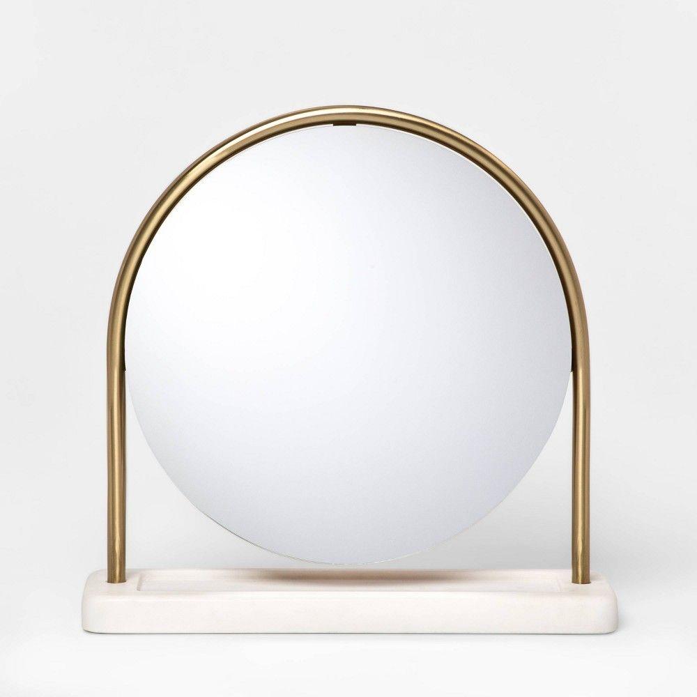14 5 X 4 Metal Vanity Mirror With Marble Base Gold White Project 62 Mirror Target Mirrors Vanity Mirror