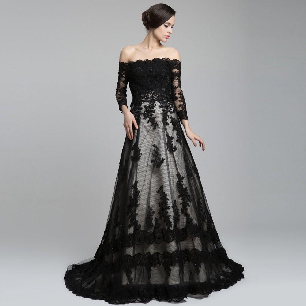 Pin Von Grace Auf I Do Schwarze Hochzeitskleider Brautkleid Lange Armel Langarmliges Kleid [ 1000 x 1000 Pixel ]