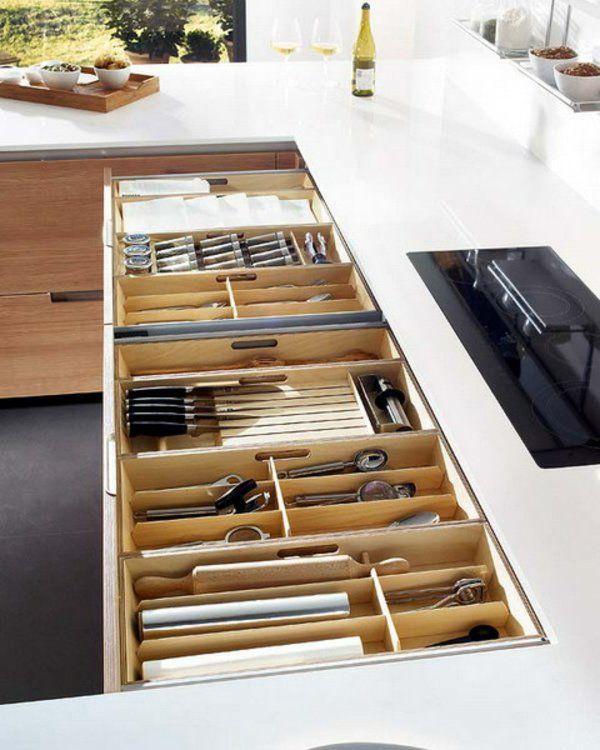 57 praktische ideen f r die organization der k chenschubladen k che k che schubladen und. Black Bedroom Furniture Sets. Home Design Ideas