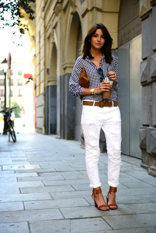 19 Le Fashion Blog 30 Fresh Ways To Wear White Jeans Gingham ...