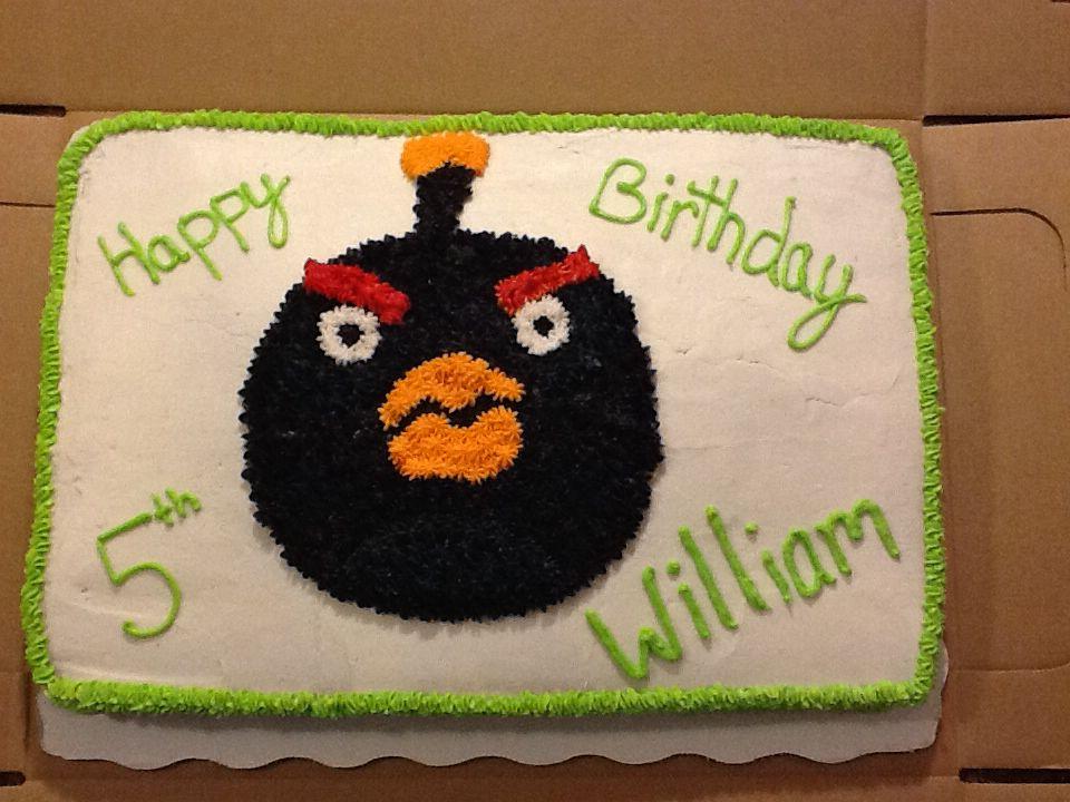 Williams Angry Birds Bomb Bird Cake