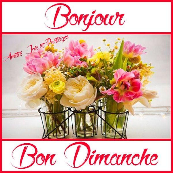 Bonjour, Bon Dimanche (avec images) | Bon dimanche, Dimanche ...