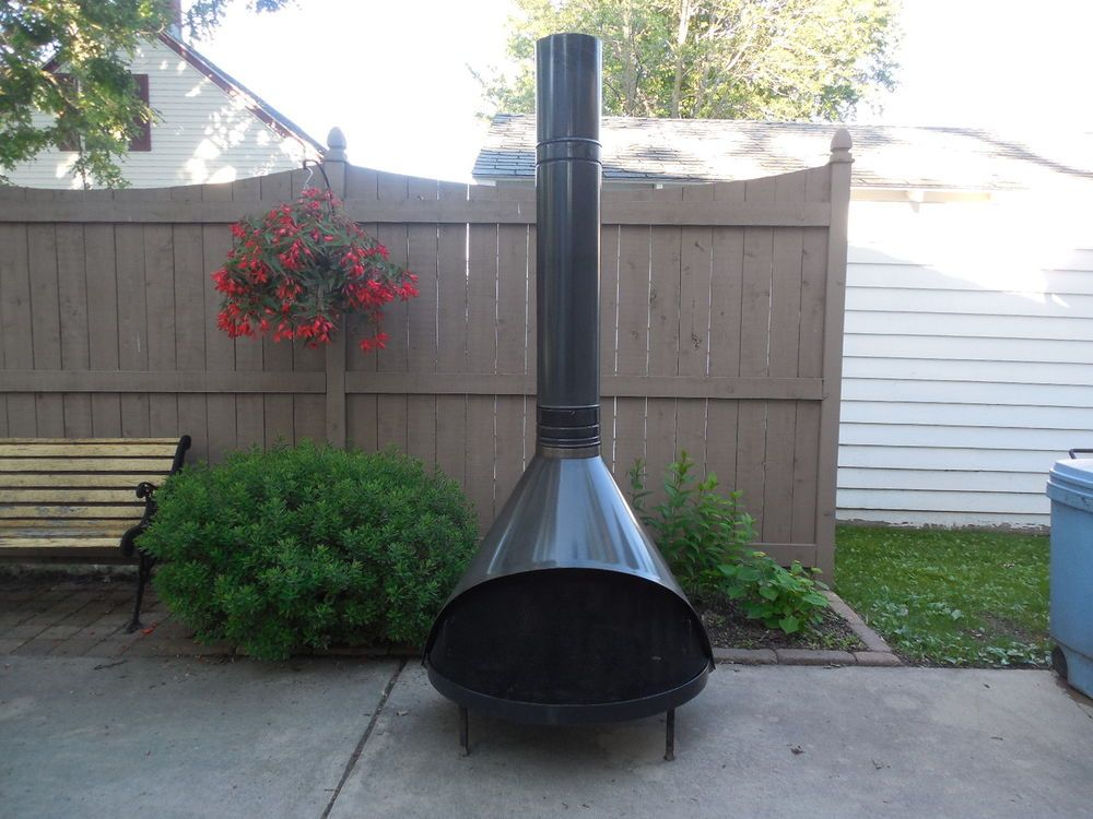 Vintage Mid Century Modern Preway Free Standing Cone Fireplace The Retro Project House