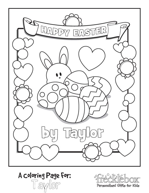 Customize Easter Coloring Page Easter Coloring Pages