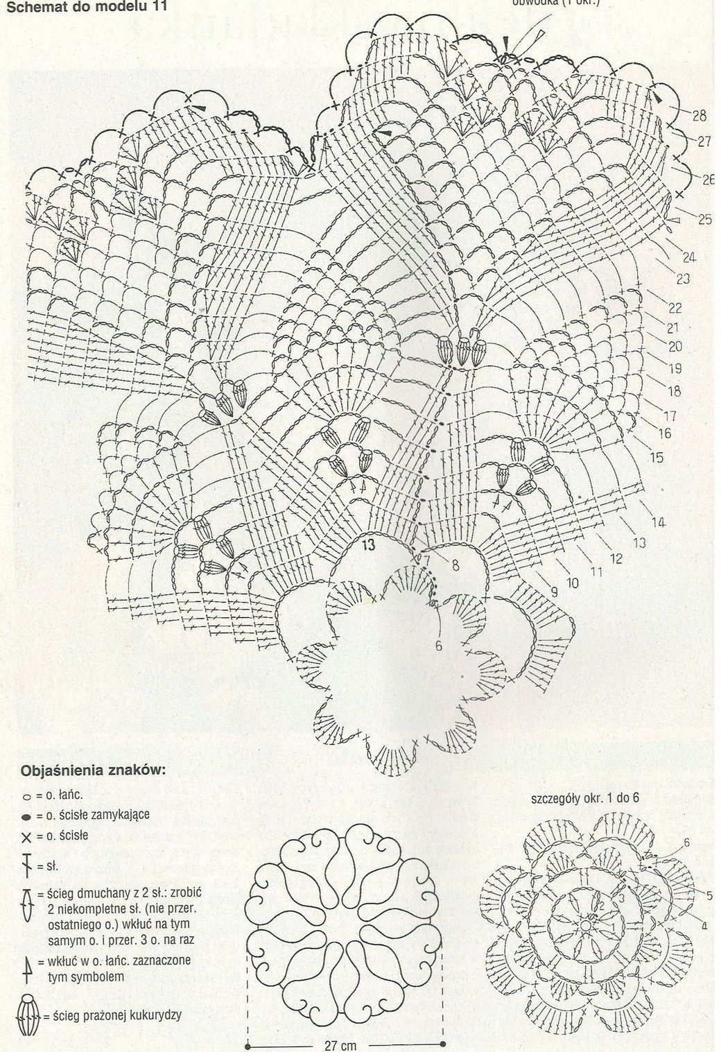 Crochet Rose Pattern Diagram : Rose, pineapples and hearts crochet doily diagram ...