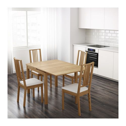 Extendable Table Bjursta Oak Veneer  Living Spaces House And Spaces Interesting Dining Room Table For 2 Design Inspiration