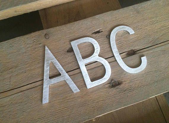 small metal letters large metal letter metal sign metal